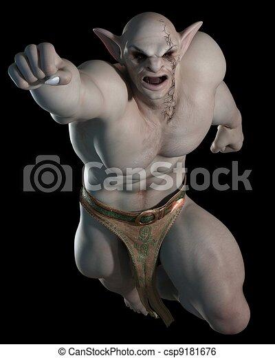 Goblin or troll fighting champion 2 - csp9181676