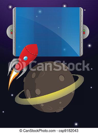 space rocket sign - csp9182043