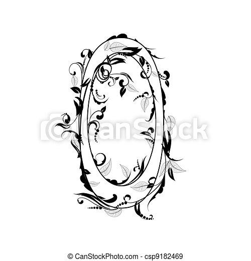 number alphabet, foliage - csp9182469