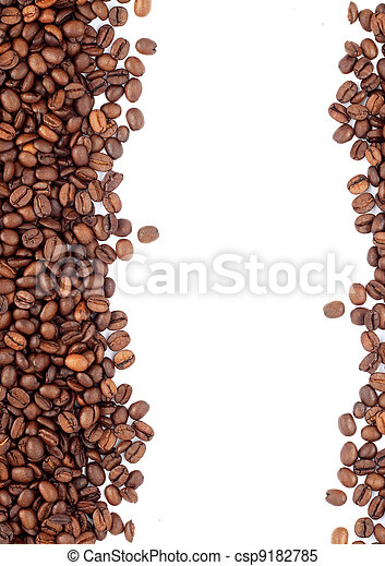 Brown roasted coffee beans - csp9182785