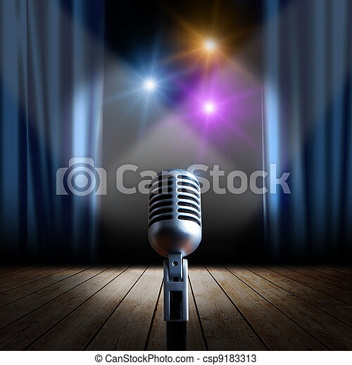 Stage and retro microphone - csp9183313