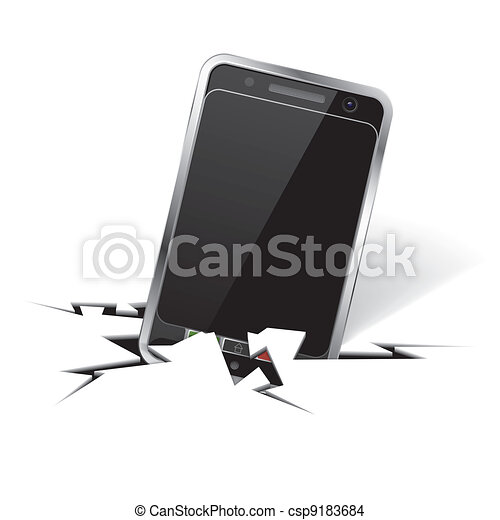 Smartphone in Crack - csp9183684