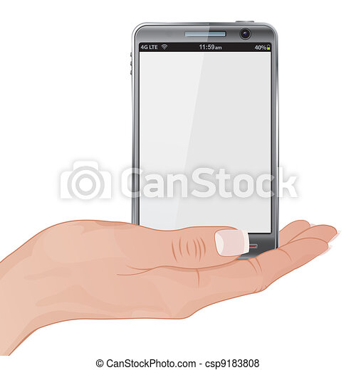 Woman Hand with the Smart Phone - csp9183808