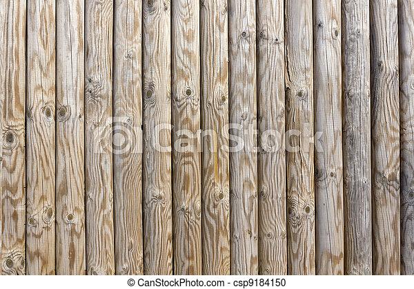 Smooth wood pine poles - csp9184150