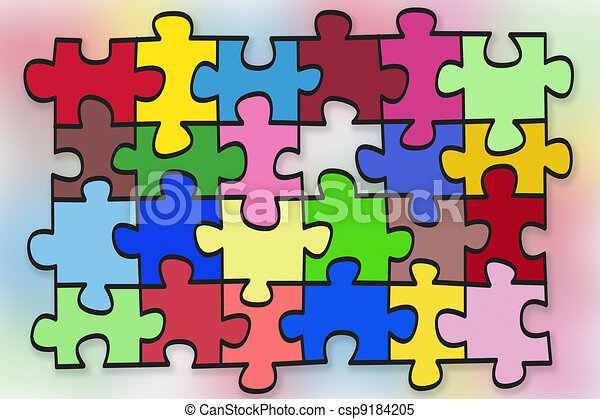 puzzles  abstract concept - csp9184205