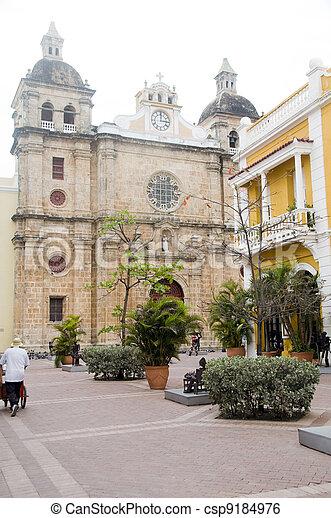 Iglesia Church of San Pedro Claver Cartagena de Indias Colombia - csp9184976