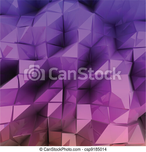 Violet triangle abstract. Vector background - csp9185014