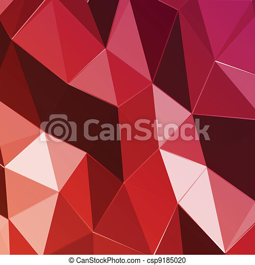 Abstract geometric red triangle background. Vector - csp9185020
