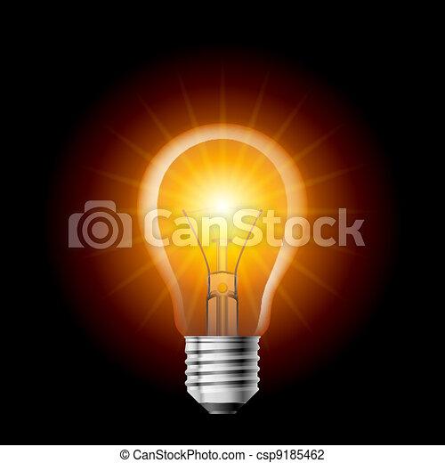 Light bulb - csp9185462