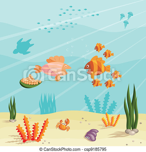 Life of small fishes - csp9185795