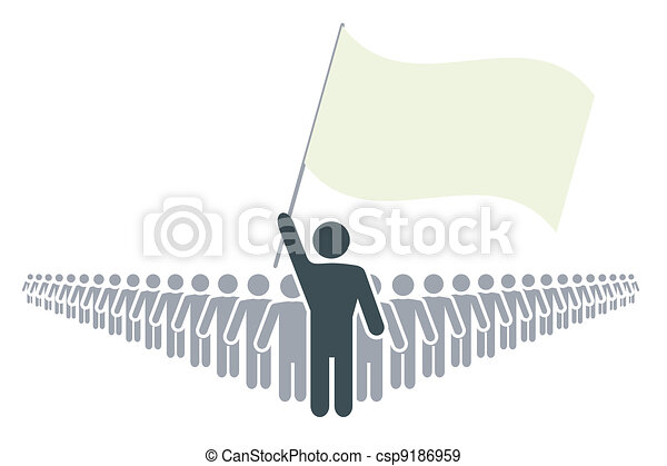 rank of people with leader and flag - csp9186959