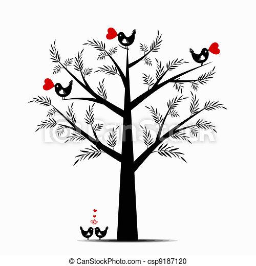 Valentine Tree - csp9187120