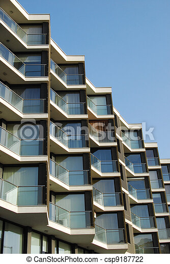 Modern residential building - csp9187722
