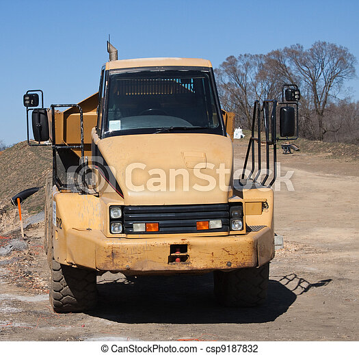 Dump truck waiting for a load - csp9187832