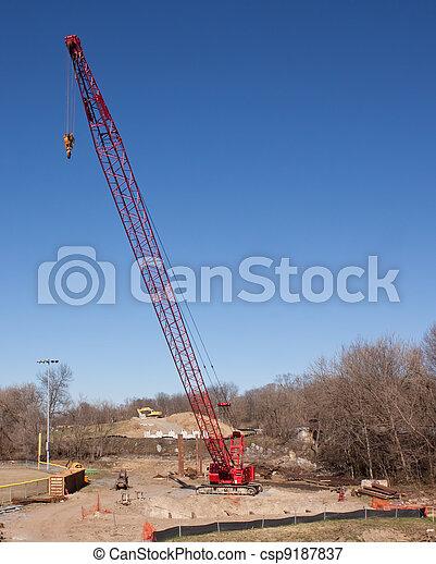 Red Crane - csp9187837