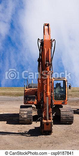 Jackhammer on end of excavator - csp9187841