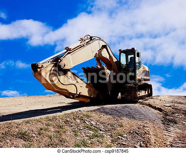 Excavator sleeping - csp9187845