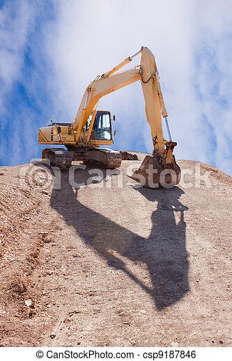 Excavator on construction Site  - csp9187846