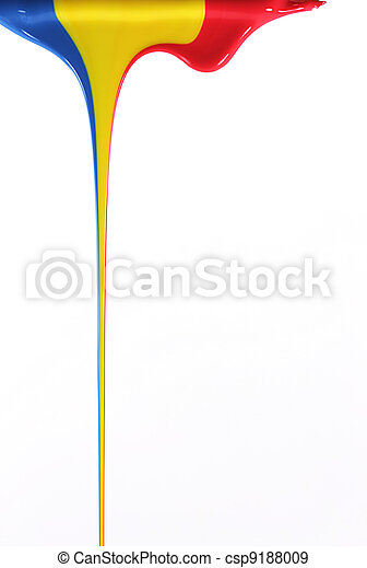 Pouring primary colors - csp9188009