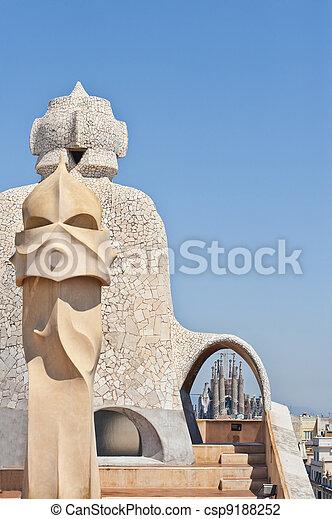 Casa Mila by Antonio Gaudi - csp9188252