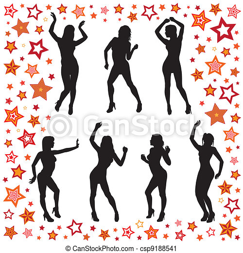 Dancing women - csp9188541