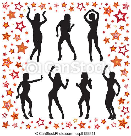 Dancing women - csp9188541