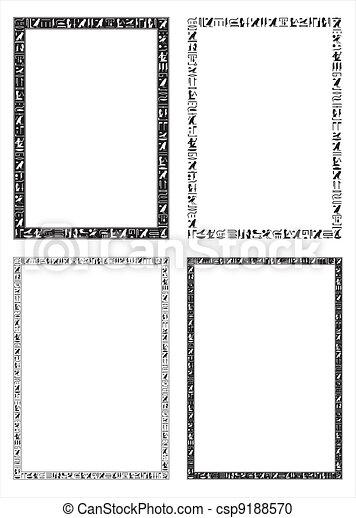 Egyptian hieroglyphic frames - csp9188570