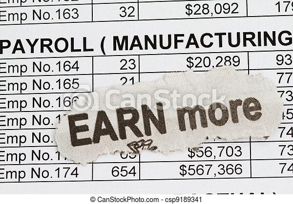 Payroll ledge - csp9189341