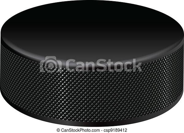 Detailed Hockey Puck - csp9189412