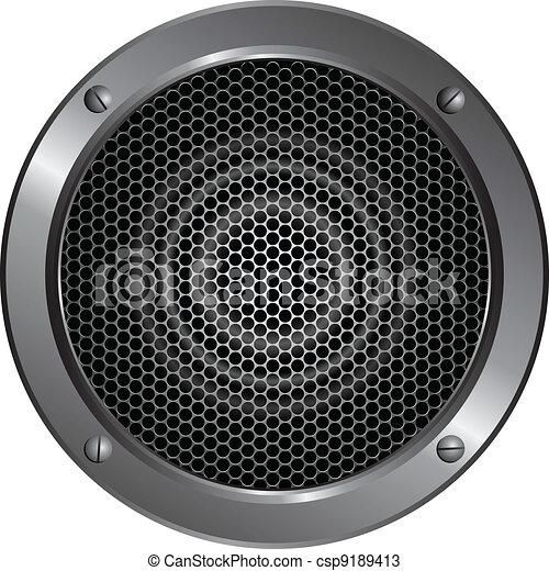 Detailed speaker icon - csp9189413