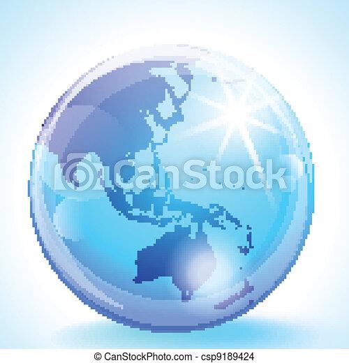 Asia Pacific Globe - csp9189424