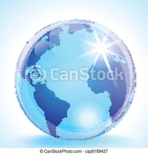The Americas, Europe and Africa Globe - csp9189427