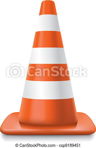 striped traffic cone - csp9189451