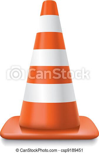 striped traffic cone - csp9189451