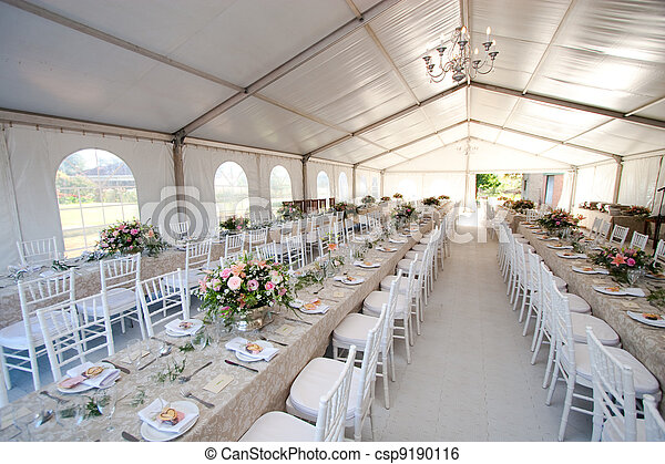 bröllop, tält - csp9190116