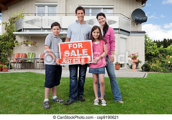 Happy family buying new house - csp9190621