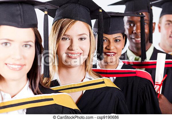 group of international graduates closeup  - csp9190686