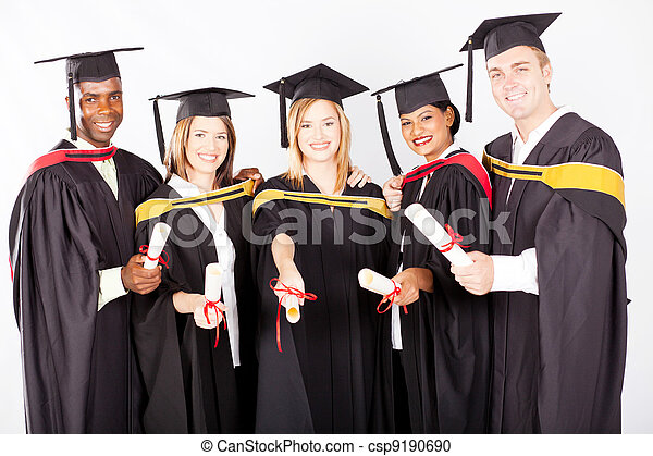 group of multicultural university graduates - csp9190690