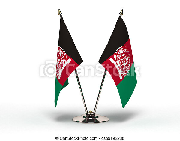 Miniature Flag of Afghanistan (Isolated) - csp9192238