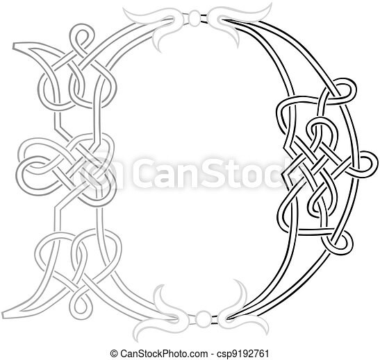 Celtic Knot-work Capital Letter D - csp9192761