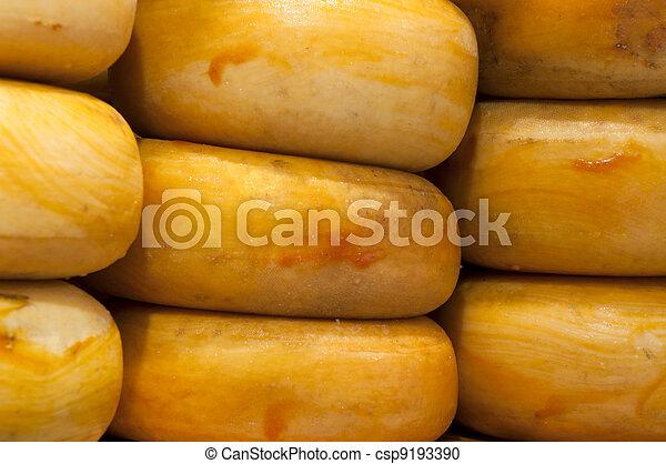 Nine big Gouda cheese - csp9193390