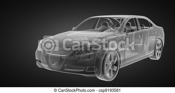 transparent car concept with driver - csp9193581