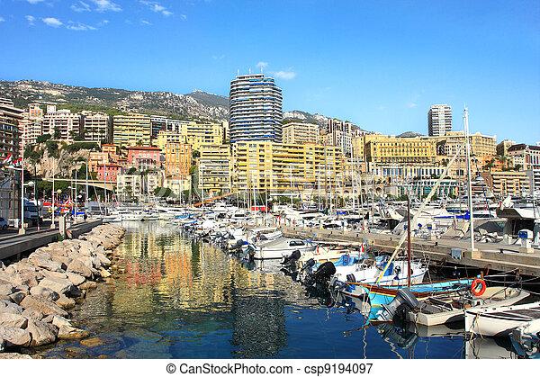 Marina of Monte Carlo, Monaco. - csp9194097