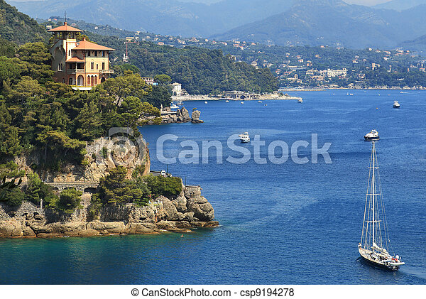 Bay of Portofino. Liguria, Italy. - csp9194278