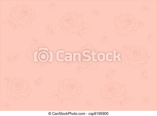seamless background with roses - csp9195900