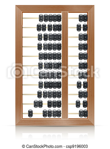 chinese vintage wooden abacus - csp9196003