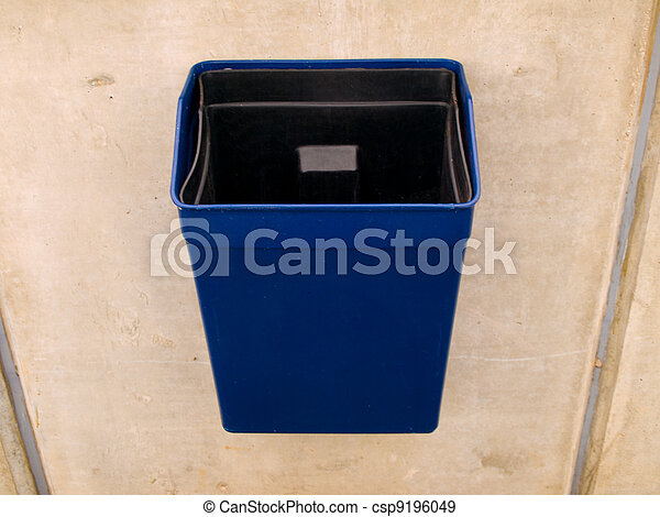 Garbage Rubbish Bin in Public for Litter - csp9196049