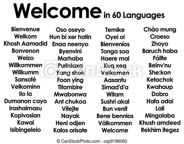 Herzlich Willkommen Sprachen