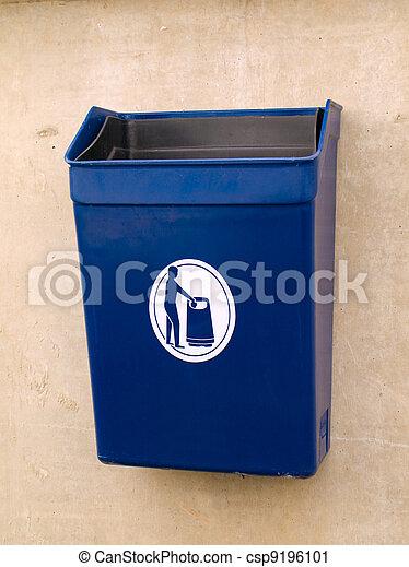 Garbage Rubbish Bin in Public for Litter - csp9196101
