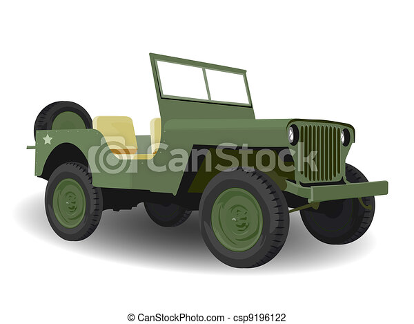 clip art de arm e jeep am ricain vert v hicule militaire csp9196122 recherchez des. Black Bedroom Furniture Sets. Home Design Ideas